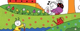 Sevecen ile Tomurcuk Etkinlik Kitabı 1 - Kelebekler Kızlar ve Deniz Kabukları (Çıkartmalı)