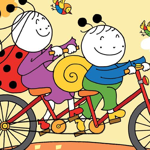 Uğurböceği Sevecen ile Salyangoz Tomurcuk 22 - Bisiklet