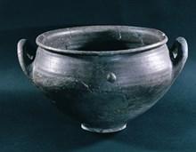 Çömlek, Troia VI, Mö 1700-1200, pişmiş toprak, Çanakkale Arkeoloji Müzesi