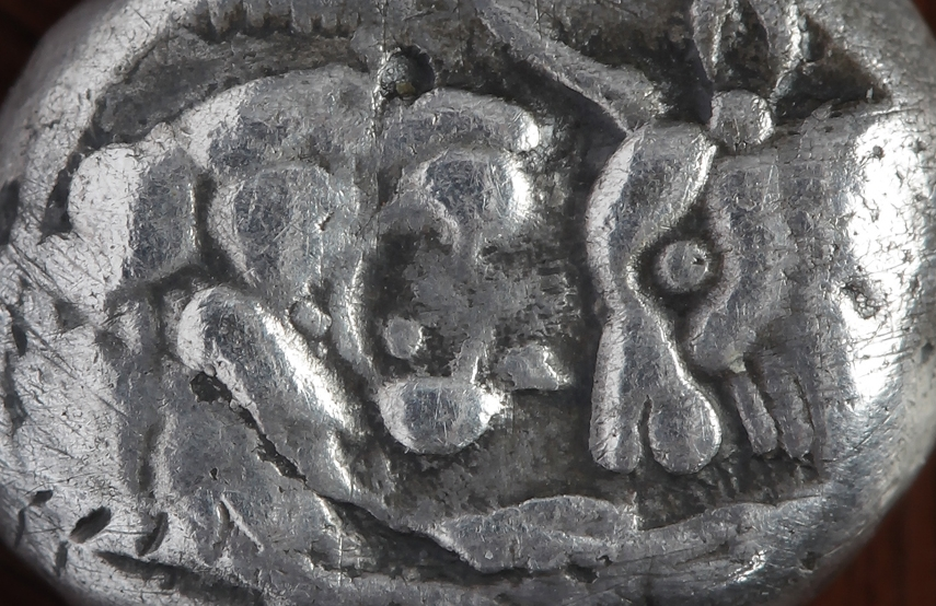 Aslan ve Boğa betimli Kroisos dönemi  gümüş Lidya sikkesi