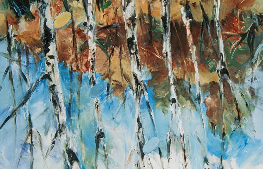 Georg Baselitz Fingermalarei - Birken 1972, tuval üzerine yağlıboya, 162 x 130 cm
