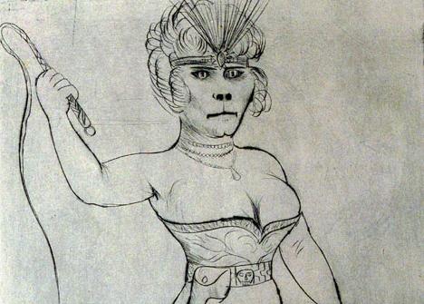 Hayvan Eğiticisi / Dompteuse, 1922