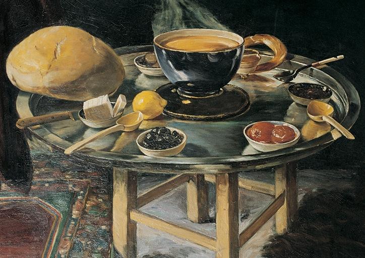 İftar Sofrası, 1919, 79x98 cm, tuval üzerine yağlıboya, Yapı Kredi Resim Koleksiyonu