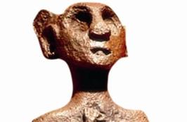 Pişmiş toprak insan heykelciği