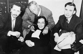 With Sait Faik and Adalet Cimcoz.