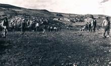 5 Eylül 1931'de ikinci dönem kazılarına ilk kazmanın vurulmasından hemen önce