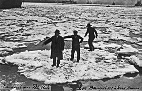 Ice floes in Istanbul. 2 March 1929. Photograph: Sender Beyoğlu