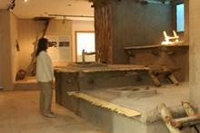 Evlerin giriş çıkışın damdan yapıldığını gösteren sergi uygulaması