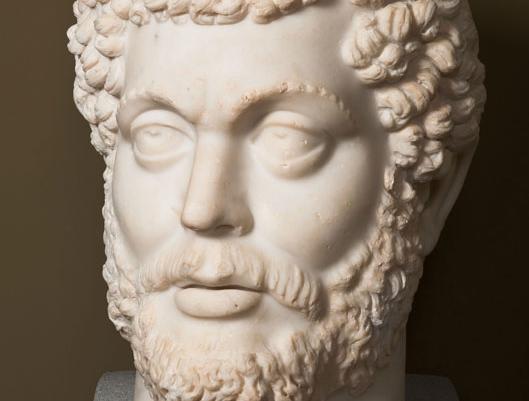 İmparator Marcus Aurelius heykelinin başı. Roma İmparatorluğu Dönemi, MS 2. yüzyıl (yak. MS 170-180)