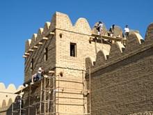 Seeher döneminde Boğazköy surları restore ediliyor