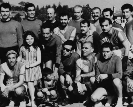 Keşanlı Ali and Men of Letters Society Teams posing for a photo before a football match