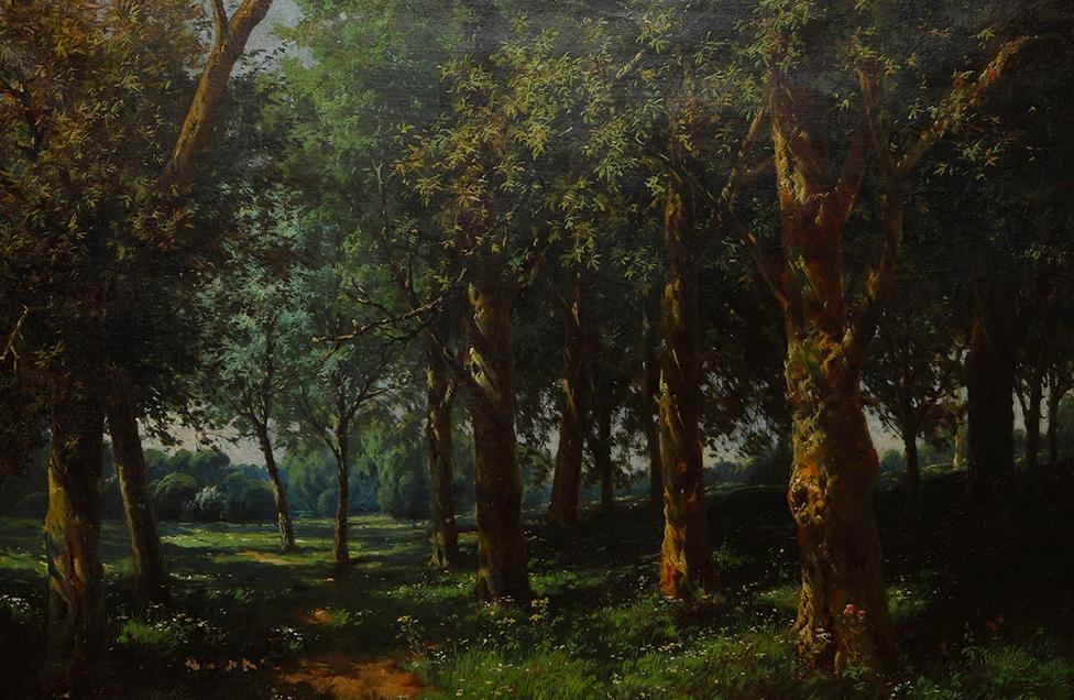 Landscape, 71.5x91 cm, oil on canvas, Hatice Abra Collection