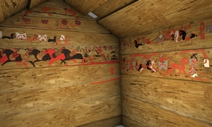 Tatarlı mezar odasının dijital restitüsiyonu, kuzey doğu köşesi.