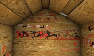 Tatarlı, kuzey duvarının dijital restitüsiyonu.