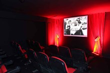 A view from the movie theater constructed especially for the exhibition