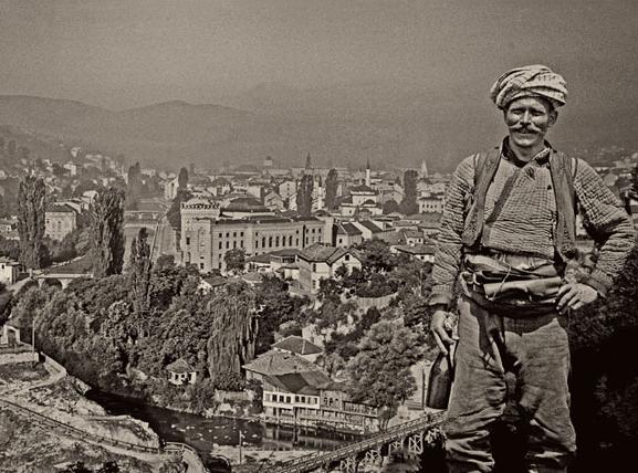 Alija M. Akšamija: Sarajevo Panorama with Rom. Mehmed A. Akšamija Fotoğraf Koleksiyonu