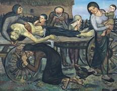 İbrahim Balaban (1921-), Kan Davası-Kurban Babam Vendetta, My Father-the Victim, 1950, Tuval üzerine yağlıboya