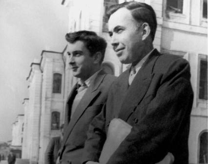 Öğrencisi Ergin Sander'le, 13 Mart 1957.