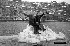 Ice floe in the Bosphorus