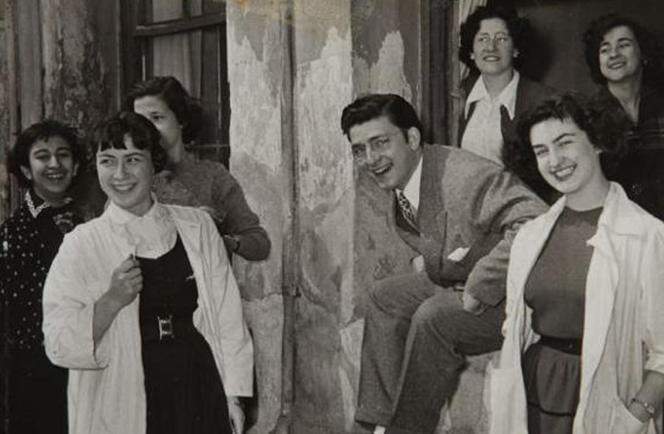 At the Fine Arts Academy, 1953