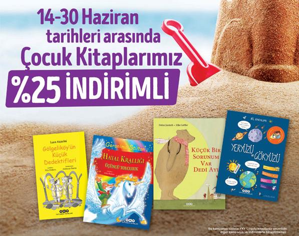 14-30 Haziran tarihleri arasında çocuk kitaplarımız %25 indirimli.