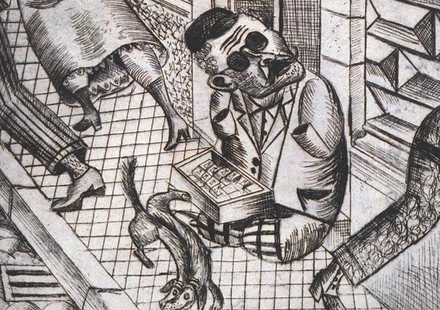 Kibrit Satıcısı / Streichholzhändler, 1920