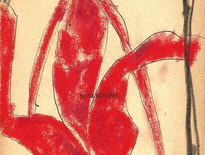 İlhan Berk, Desen, 1976, 20x13.5 cm, Çini Mürekkebi
