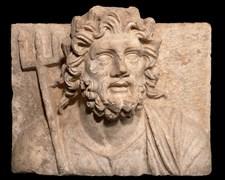 Poseidon büstü. Roma İmparatorluğu Dönemi, MS 2. yüzyıl (yak. MS 120-125)