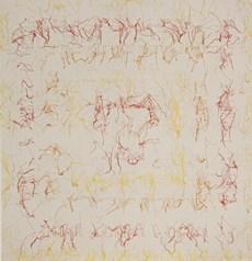 Ghada Amer Untitled (Albers) 1996, nakış, karışık teknik, 172 x 166 cm