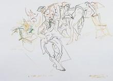 2 Ocak 2003, Renkli ekolin, bambu kalem, 50x70 cm