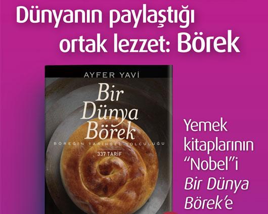"""Yemek kitaplarının """"Nobel""""i Bir Dünya Börek'e"""