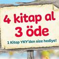 4 Kitap al 3 öde, 1 Kitap YKY'den size hediye!