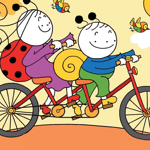Uğurböceği Sevecen ile Salyangoz Tomurcuk - Bisiklet