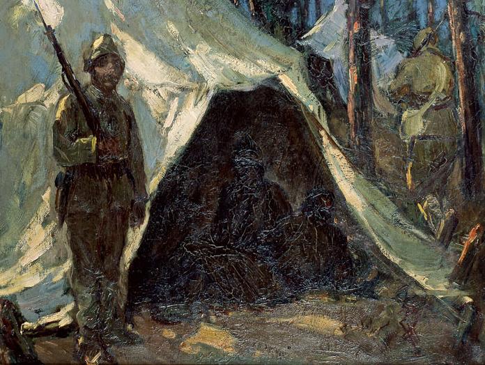 İbrahim Çallı (1882-1960), Çadır/ Tent, Tuval üzerine yağlıboya