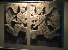 Konya Kalesi'nden melek figürlü taş panolar. 1220, Konya İnce Minareli Medrese-Taş Eserler Müzesi