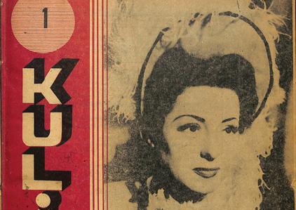 """Kulis'in ilk sayısının (15.12.1946) kapağı: Viviane Romance (asıl adıyla Pauline Ronacher Ortmanns), 1945 yapımı """"La route du bagne"""" adlı filmde"""