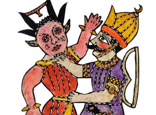 Zaloğlu Rüstem ve Dev, Ragıp Tuğtekin, 32,3 x 24,5 cm, Yapı Kredi Müzesi 4-107