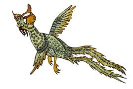 Anka Kuşu / Simurg, Ragıp Tuğtekin, 22,8 x 37,3 cm, Yapı Kredi Müzesi 4-97