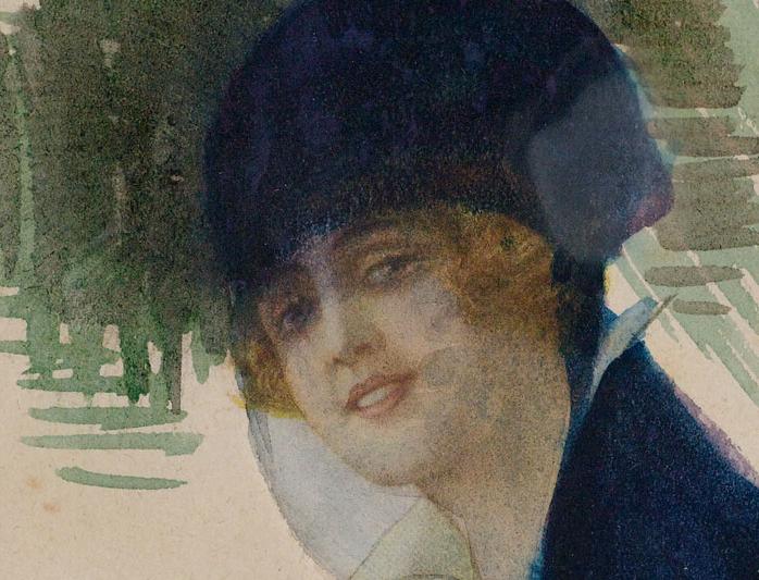 Mihri Müşfik (1886-1954), Otoportre Self-Portrait, 1920