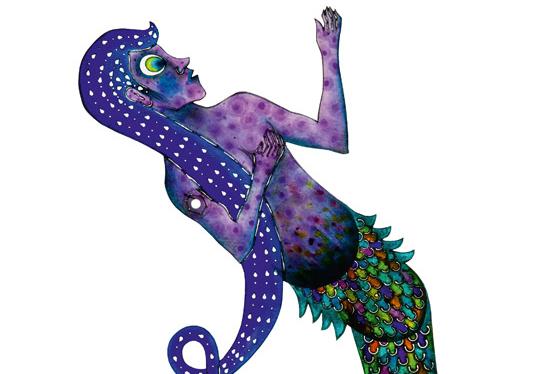 Mermaid, Cengiz Özek, 47 x 23,5 cm