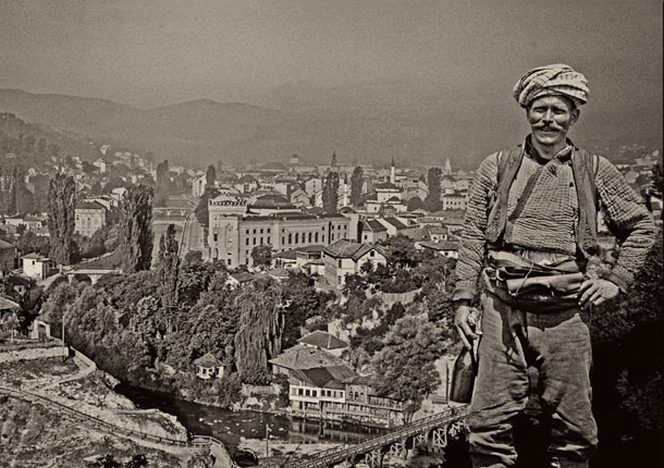 Alija M. Akšamija: Sarajevo view with Rom. Mehmed A. Akšamija Photo Collection