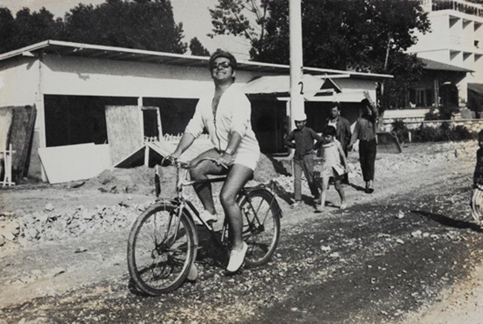 His first bicycle at the age of 11