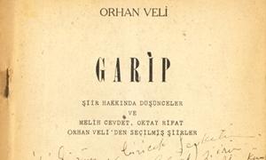 İMZALI KİTAP: Orhan Veli, Oktay Rifat ve Melih Cevdet tarafından Şevket Rado'ya imzalanmış Garip kitabı (Selçuk Altun Koleksiyonu)