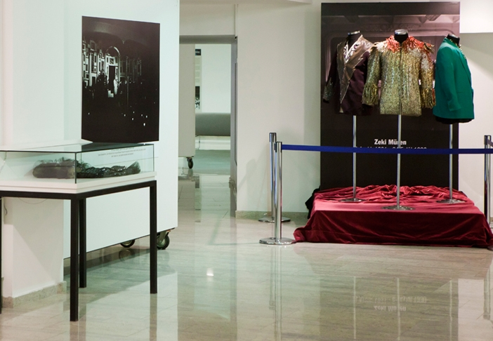 Stage costumes and wall panels
