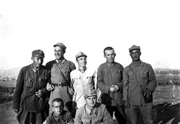 At the Ankara Reserve Officer College, May 1943. Necatigil did his national service as a Logistics Officer between 1 May 1943 and 30 November 1945.