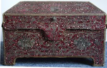 Embroidered jewellery casket
