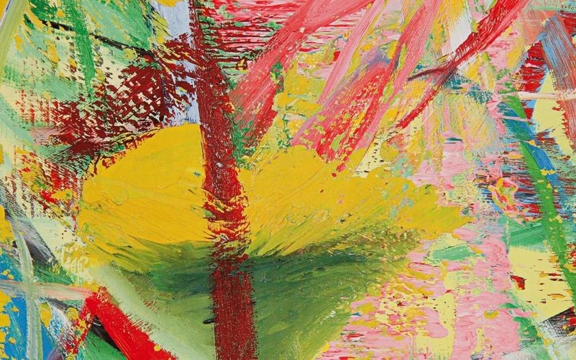 Gerhard Richter 521-Flug 1983, tuval üzerine yağlıboya, 100 x 70 cm