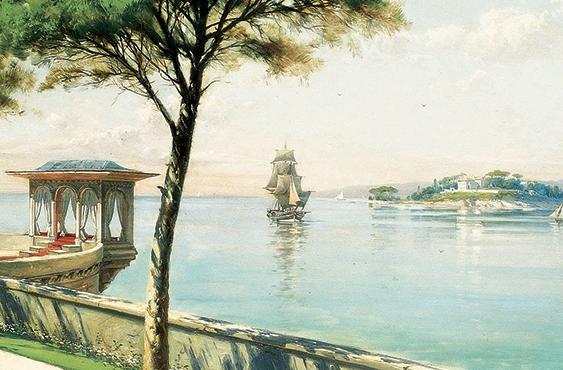 Peyzaj, 1899, 60x131 cm, tuval üzerine yağlıboya, Galip Tomaç Koleksiyonu