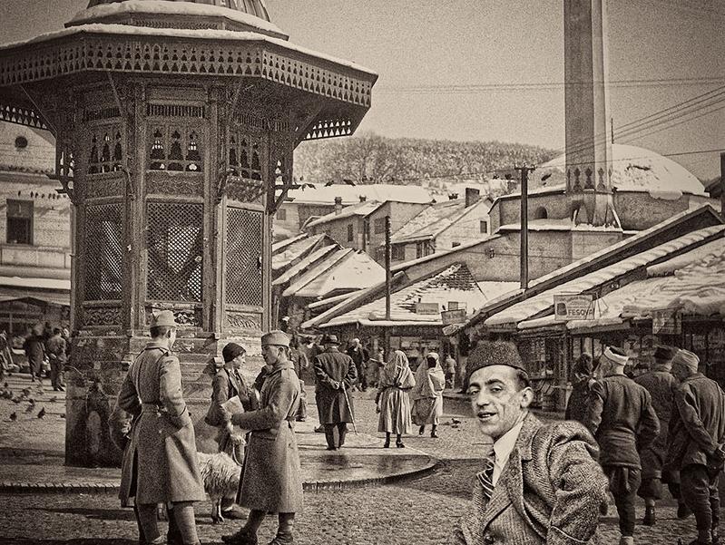 Alija M. Akšamija: Bašcaršija'da Boşnak beyler, Saraybosna, 1939. Mehmed A. Akšamija Fotoğraf Koleksiyonu