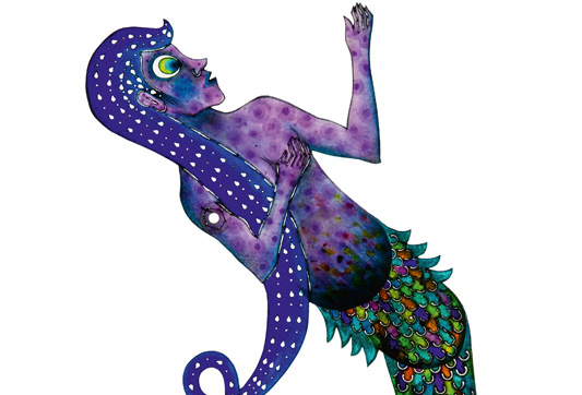 Deniz Kızı, Cengiz Özek, 47 x 23,5 cm